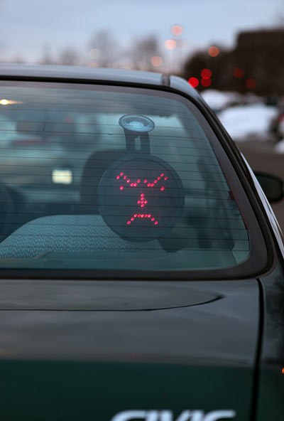 Emoticon a Led per auto