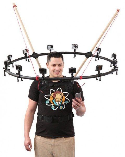 Sistema per selfie a 360°