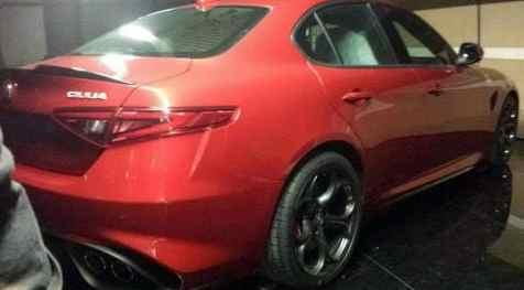 "Alfa Romeo Giulia prime immagini ""rubate"""