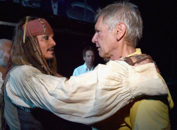Jack Sparrow abbraccia Ian Solo