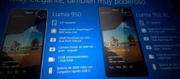 Microsoft Surface Pro 4 Lumia 950 e 950 XL