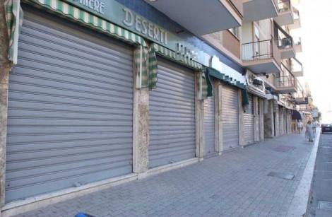 Commercio numero negozi in calo