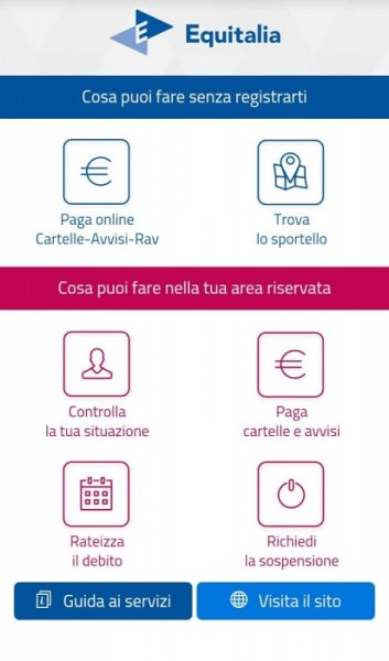 Equitalia: App Equiclick sbarca sul telefonino