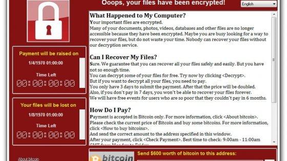Attacco hacker Ransomware in tutto il mondo