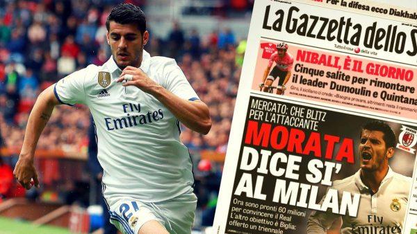Morata al Milan: ingaggio e costo cartellino